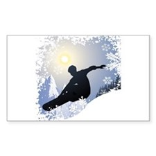 Snowboarding! Rectangle Decal