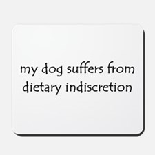 dietary indiscretion Mousepad