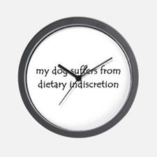 dietary indiscretion Wall Clock