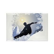 Snowboarding! Rectangle Magnet