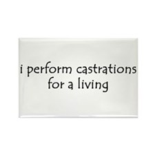 i perform castrations Rectangle Magnet