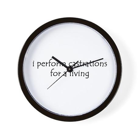 i perform castrations Wall Clock