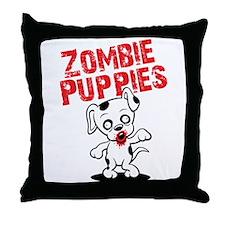 Zombie Puppies Throw Pillow