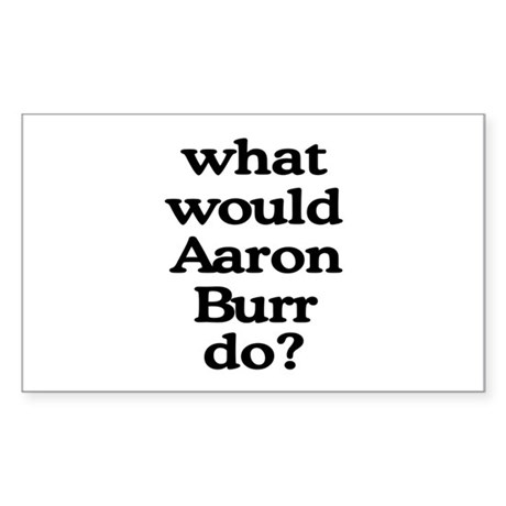 Aaron Burr Rectangle Sticker 50 pk)