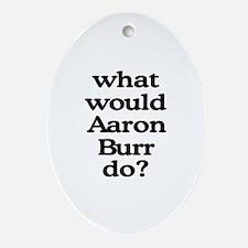 Aaron Burr Oval Ornament