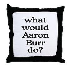 Aaron Burr Throw Pillow