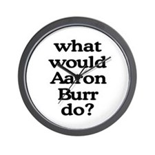 Aaron Burr Wall Clock