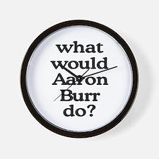 Aaron Burr Wall Clock