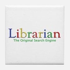 Librarian Tile Coaster