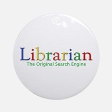 Librarian Ornament (Round)