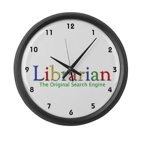 Librarian Large Wall Clock