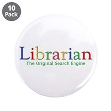 "Librarian 3.5"" Button (10 pack)"
