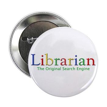 """Librarian 2.25"""" Button"""
