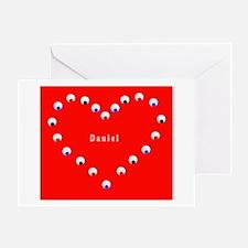 Daniel Valentine's Heart Greeting Card (Red &