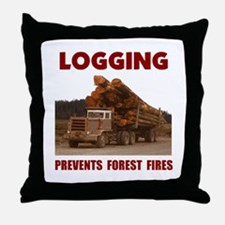 SAVE THE FORESTS Throw Pillow