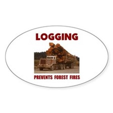 SAVE THE FORESTS Oval Decal