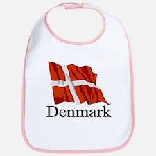 Waving Flag With Denmark Bib
