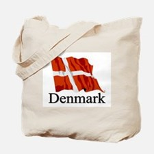 Waving Flag With Denmark Tote Bag