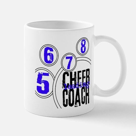 Cheer Coach in Circles Blue Mug