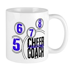 Cheer Coach in Circles Blue Small Mug