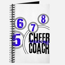 Cheer Coach in Circles Blue Journal