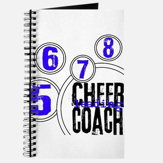 Cheer Coach in Circles Blue Journal