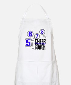 Cheer Coach in Circles Blue BBQ Apron
