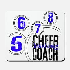 Cheer Coach in Circles Blue Mousepad