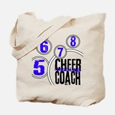 Cheer Coach in Circles Blue Tote Bag