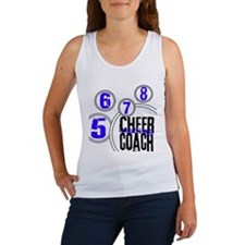 Cheer Coach in Circles Blue Women's Tank Top