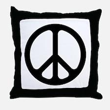 Black CND logo Throw Pillow