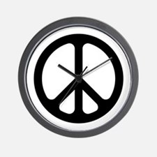Black CND logo Wall Clock