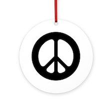 Black CND logo Ornament (Round)