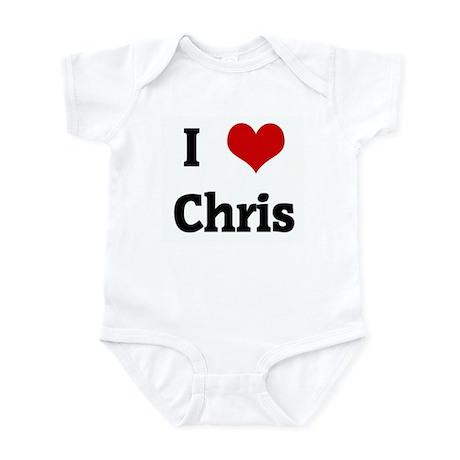 I Love Chris Infant Bodysuit