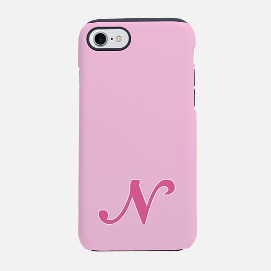 -pink-initial_N_ff.png iPhone 7 Tough Case