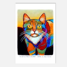 Cat-of-Many-Colors Postcards (Package of 8)
