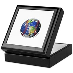 Baseball Earth Keepsake Box