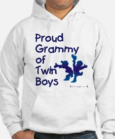 Proud Grammy - Twin Boys BLU Jumper Hoody