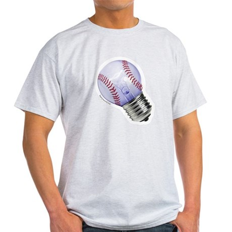 Baseball Lightbulb Light T-Shirt