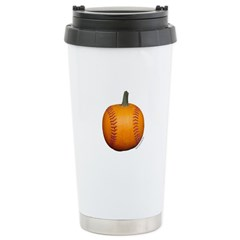 Baseball Pumpkin Travel Mug