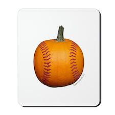Baseball Pumpkin Mousepad
