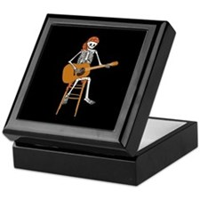 Folk Singer Skeleton Keepsake Box