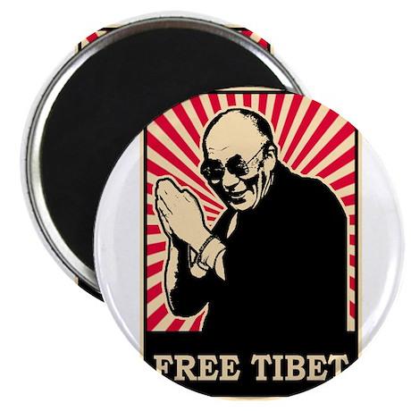 Dalai Lama Free Tibet Magnet