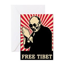 Dalai Lama Free Tibet Greeting Card