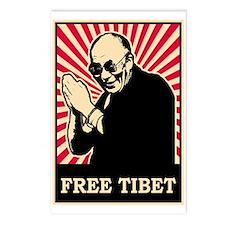 Dalai Lama Free Tibet Postcards (Package of 8)