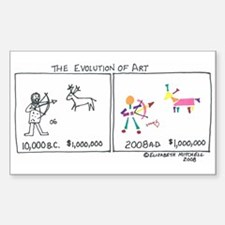 Evolution Of Art Rectangle Decal