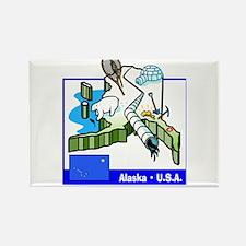 Alaska Map Rectangle Magnet