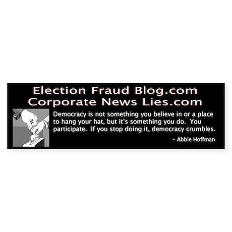 Election Fraud Blog Bumper Sticker