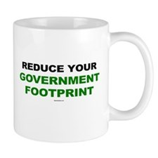 Reduce your government footprint Mug