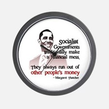 Funny Obama money Wall Clock